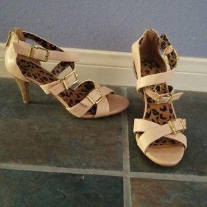 Jessica Simpson Buckle Heels